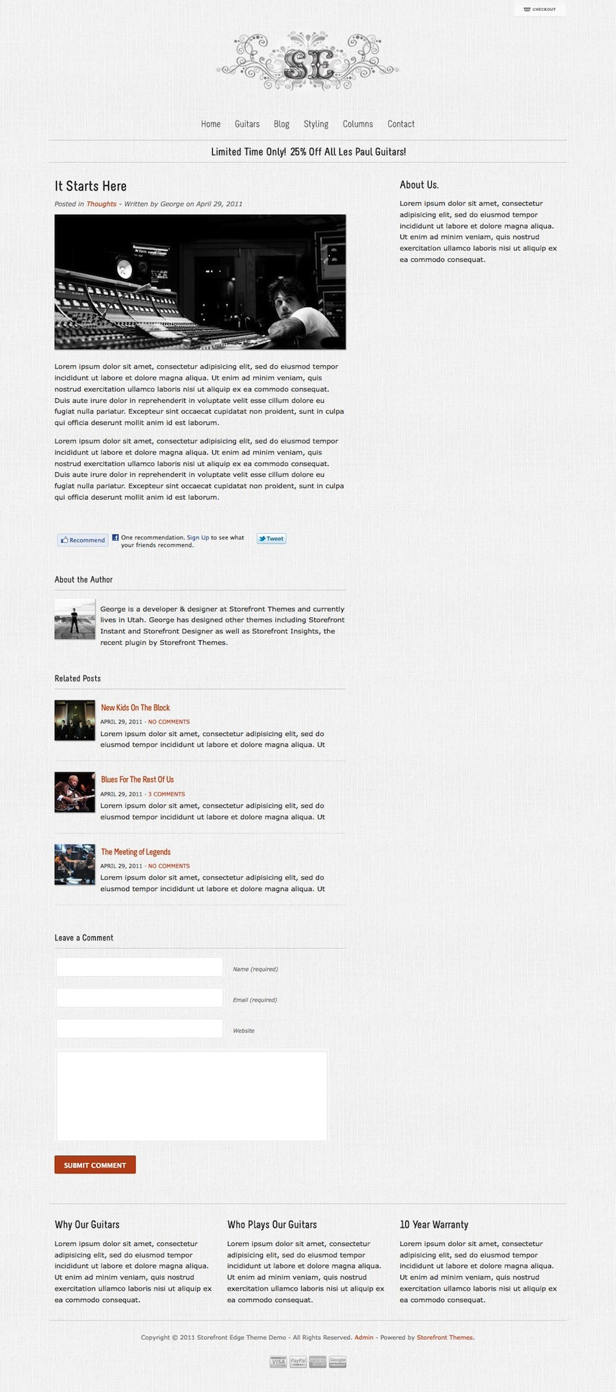 how to make a storefront website wordpress