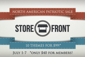 Storefront Themes Patriotic Sale