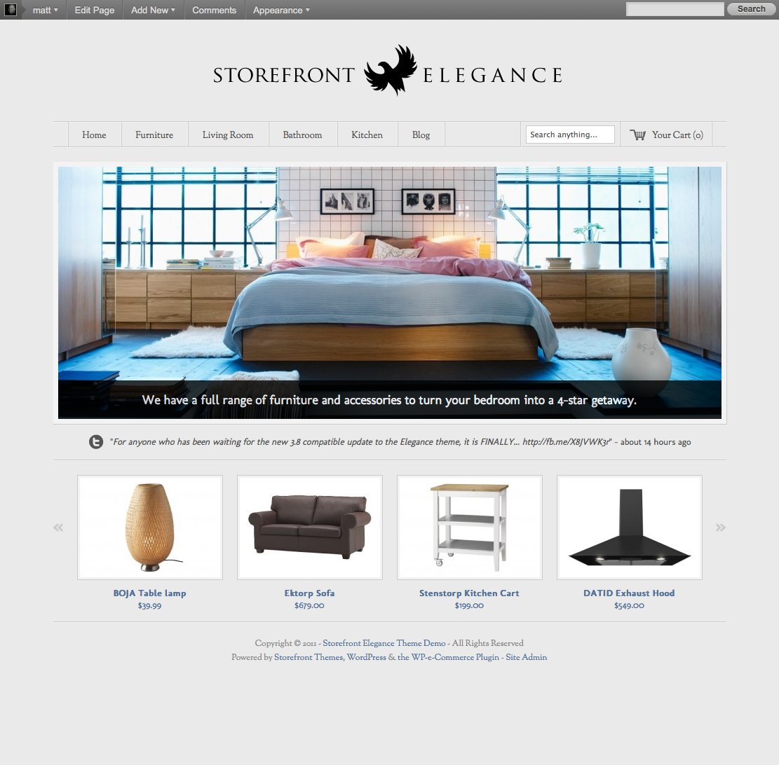 elegance storefront themes premium wordpress themes for the wp e commerce plugin. Black Bedroom Furniture Sets. Home Design Ideas